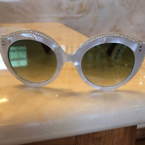 31921486ec7 Gucci GG0214S Cat Eye Mother of Pearl Sunglasses